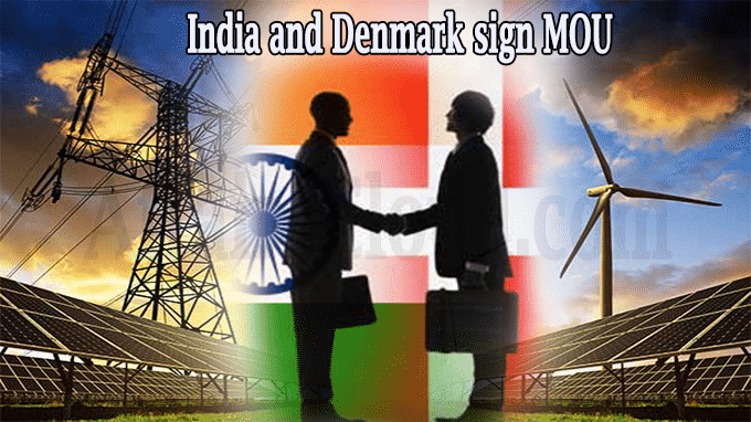 India and Denmark sign MOU