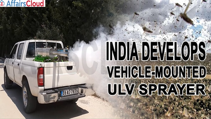 India develops vehicle-mounted ULV sprayer
