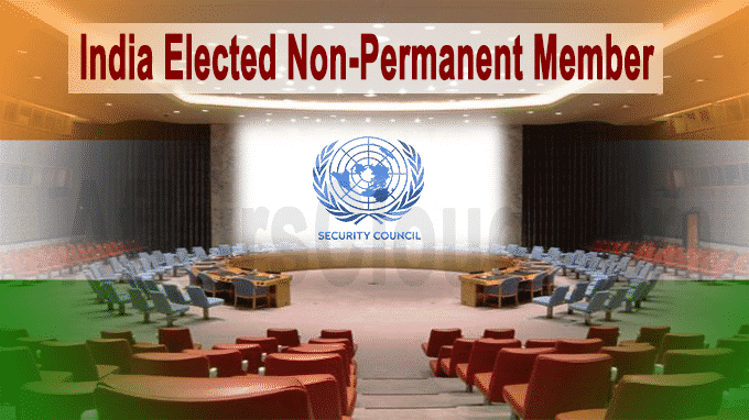 India elected non-permanent member