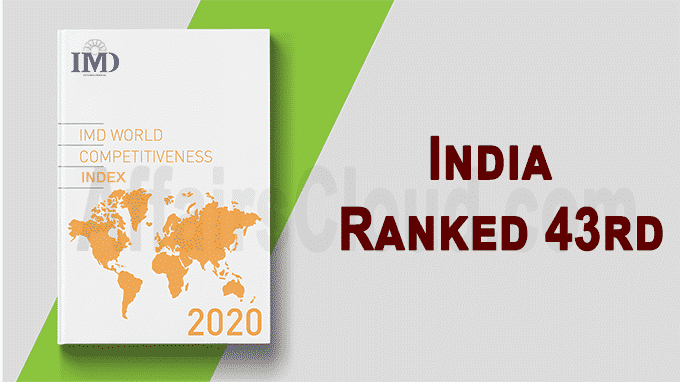 India ranked 43rd IMD World Competitive Idex