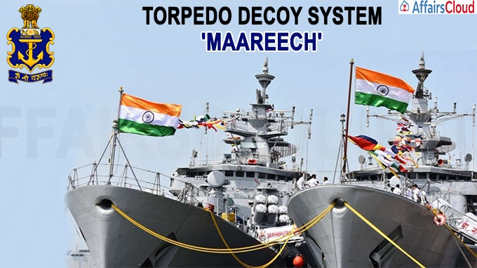 Navy Inducts Indigenously Developed Torpedo Decoy System