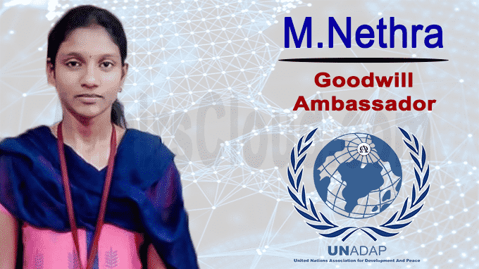 Nethra appointed Goodwill Ambassador of UNADAP
