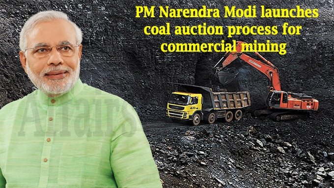 PM launches Auction process of Coal blocks for Commercial mining