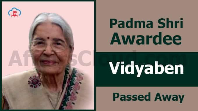 Padma-Shri-awardee-Vidyaben-passes-away