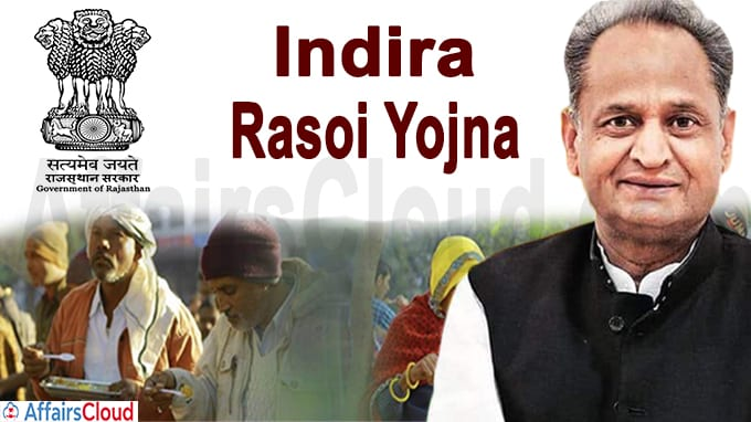 Rajasthan Government to launch 'Indira Rasoi Yojna'