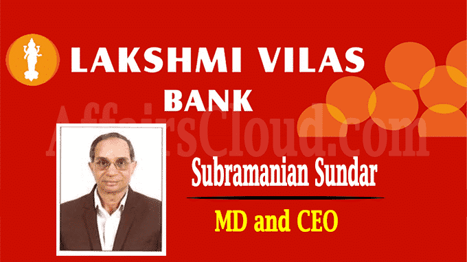 Reserve Bank approves Lakshmi Vilas Bank's MD and CEO