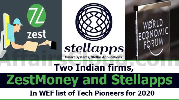 Two-Indian-firms,-ZestMoney-and-Stellapps-in-WEF-list-of-tech-pioneers-for-2020