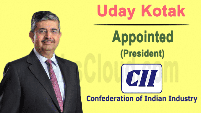 Uday Kotak takes over from Vikram Kirloskar as the new CII President