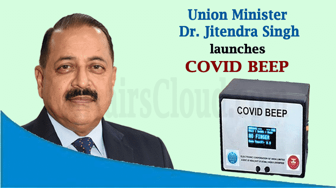 Union Minister Dr Jitendra Singh launches COVID BEEP