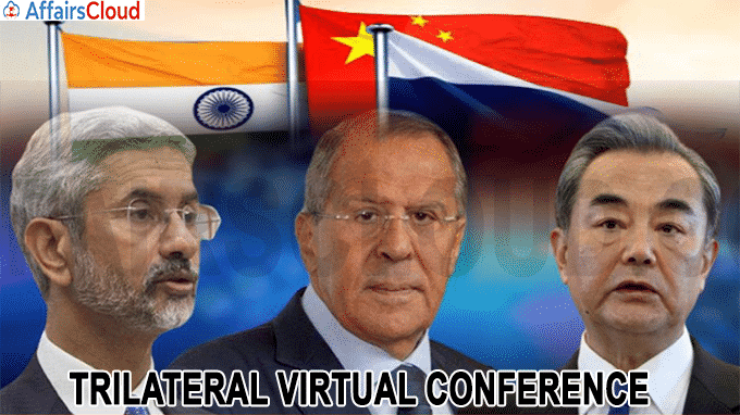 Virtual conference of the Russia-India-China