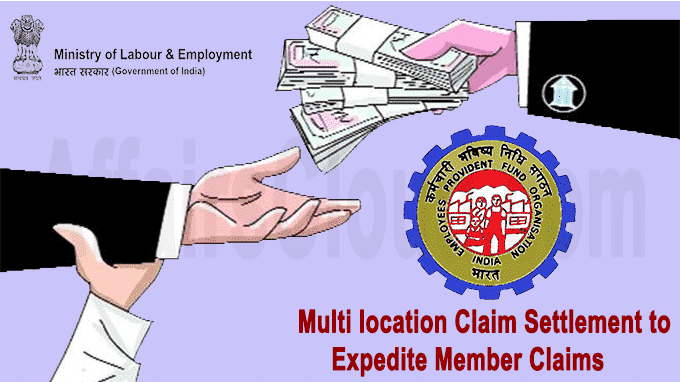 multi location claim settlement to expedite member claims