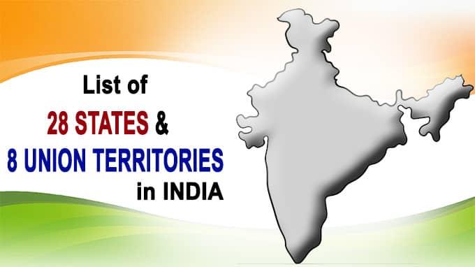 28 states & 8 union Territories new