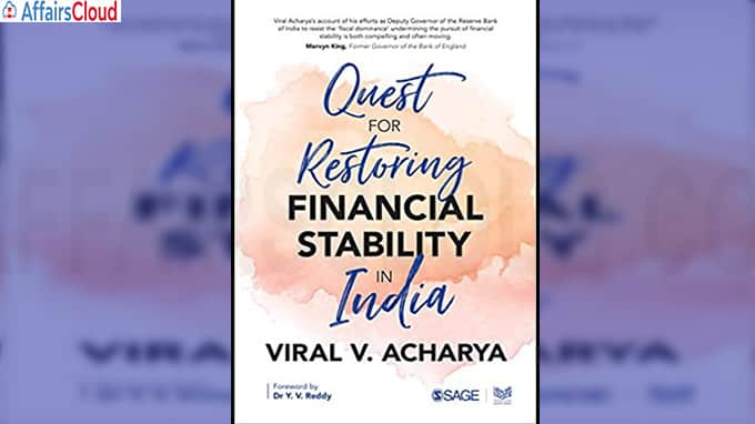 "A new book titled ""Quest for Restoring Financial Stability in India"""