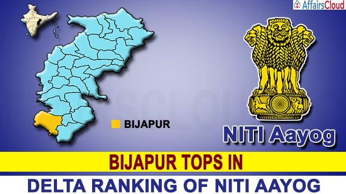 Bijapur tops in Delta Ranking of NITI Ayog