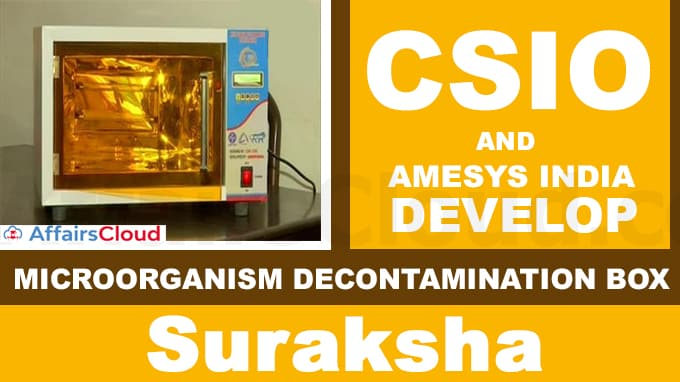 CSIO,-AMESYS-INDIA-develop-microorganism-decontamination-box-'Suraksha'