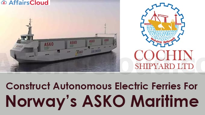 Cochin-Shipyard-Limited-(CSL)-to-construct-two-autonomous-electric-ferries-for-Norway's-ASKO-Maritime