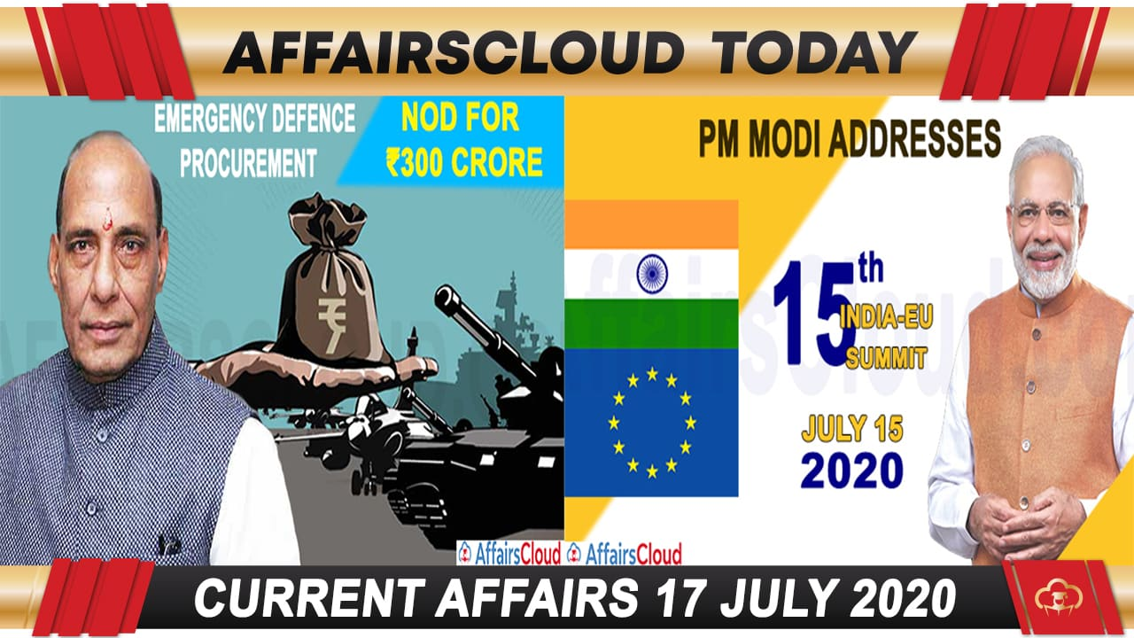 Current Affairs July 17 2020