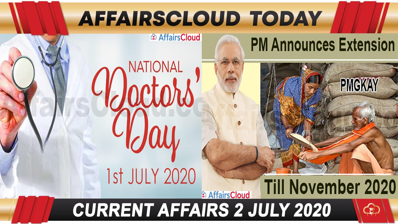 Current Affairs July 2 2020