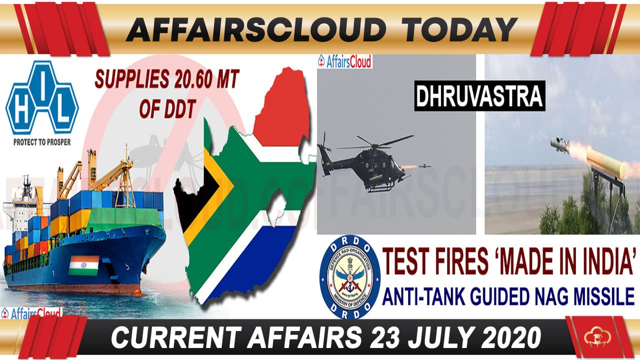 Current Affairs July 23 2020