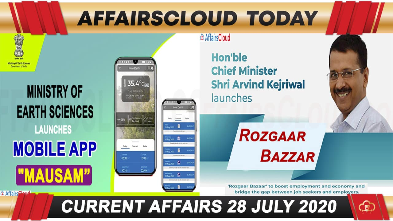 Current Affairs July 28 2020