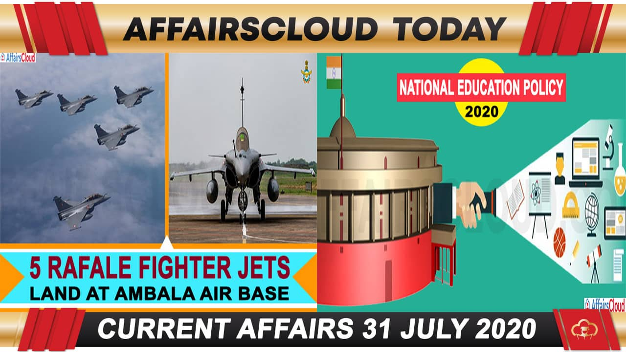 Current Affairs July 31 2020