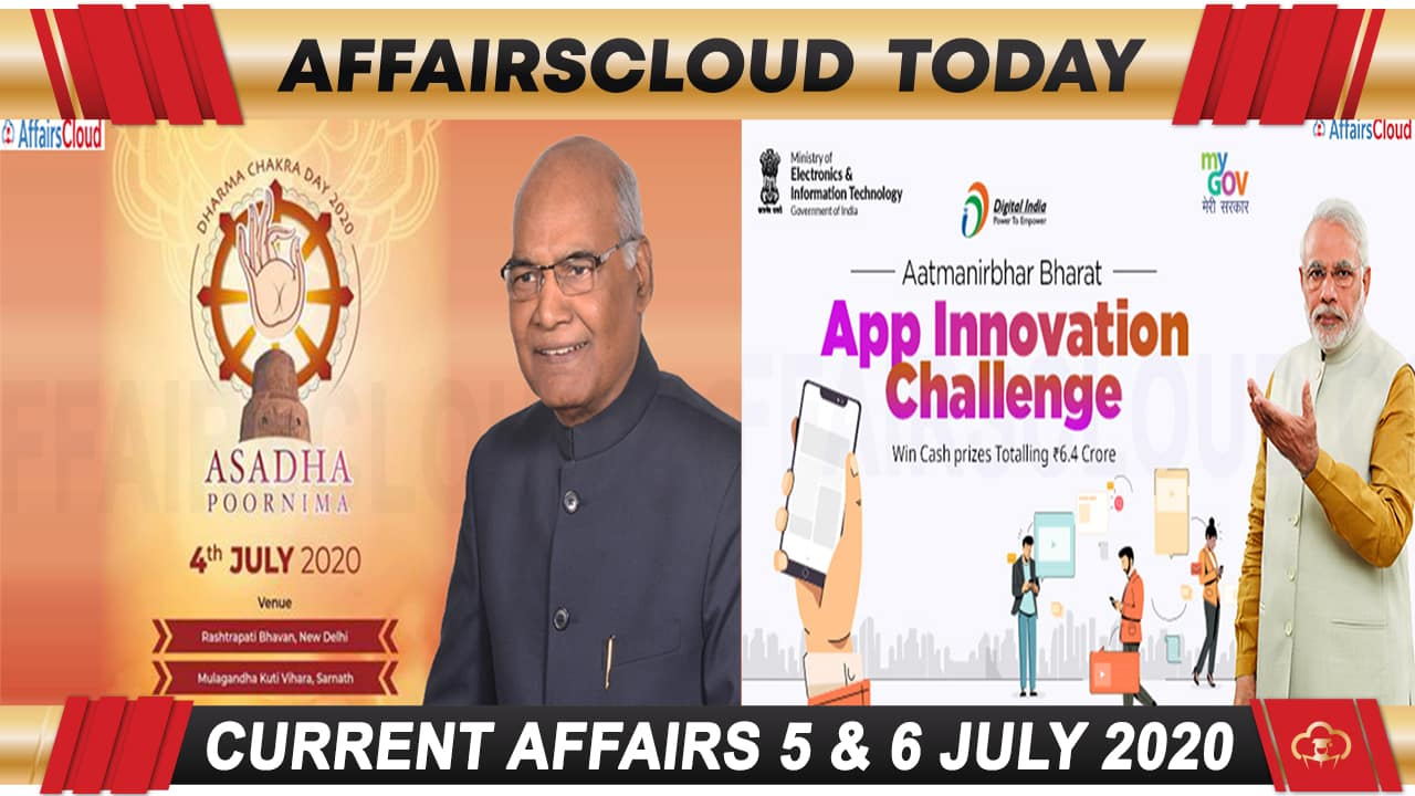 Current Affairs July 5 & 6 2020 new