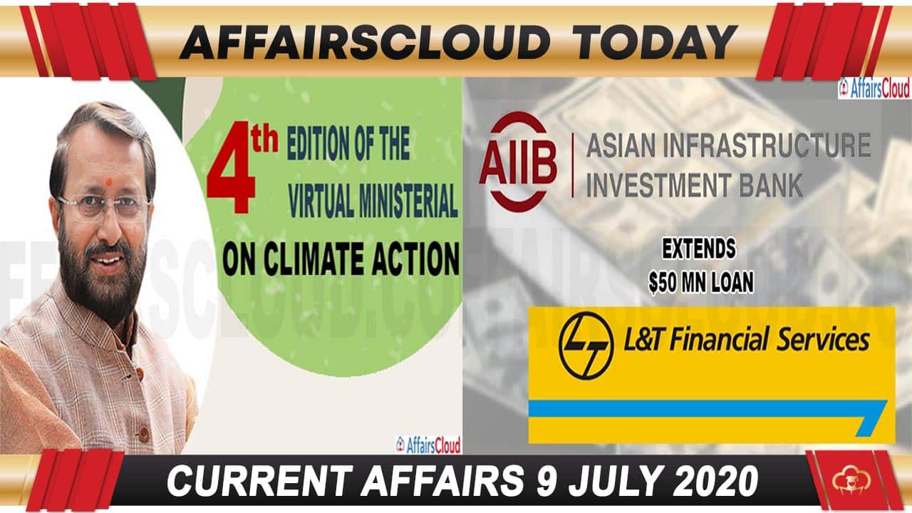 Current Affairs July 9 2020 new