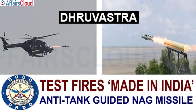 DRDO test fires 'made in India' anti-tank guided Nag missile