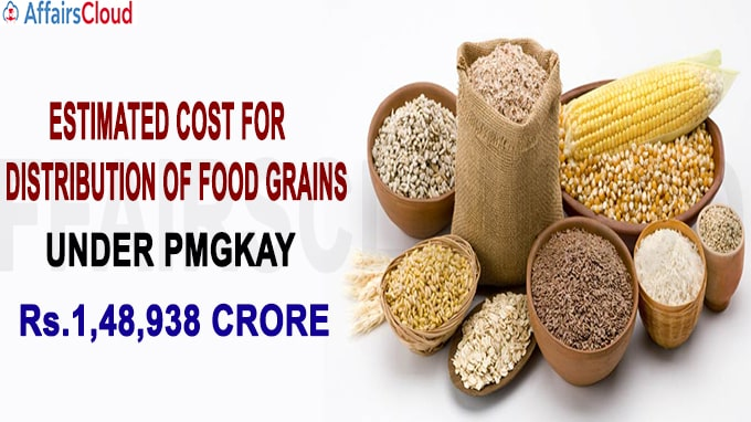 Estimated cost for distribution of foodgrains