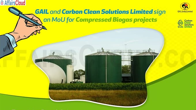 GAIL (India) and Carbon Clean Solutions (CCSL) sign MoU