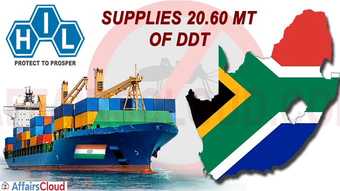 HIL, India supplies 20-60 MT of DDT to South Africa