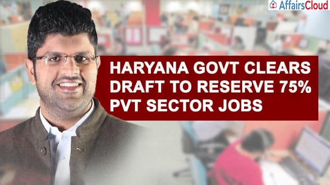 Haryana Govt Clears Draft To Reserve 75% Pvt Sector Jobs