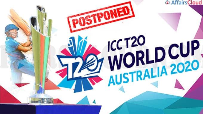 ICC postpones T20 World Cup to 2022
