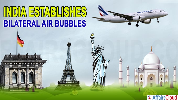 India establishes bilateral air bubbles