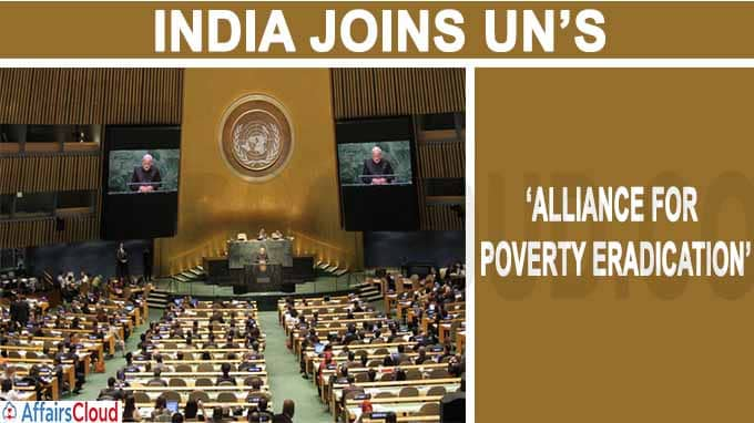 India joins UN's 'Alliance for Poverty Eradication' as founding member