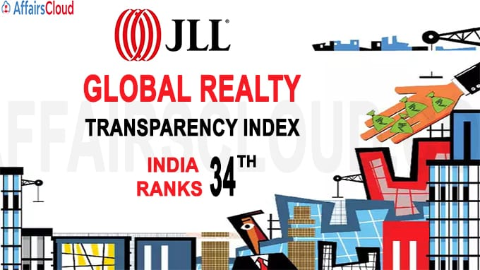 India ranks 34th in JLL's Global Realty Transparency Index