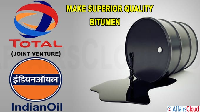 Indian oil, France's Total form JV to make superior quality bitumen