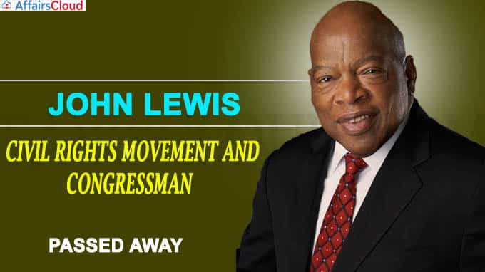 John Lewis, pioneer of civil rights movement