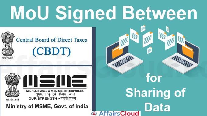 MoU-signed-between-CBDT-&-MoMSME-for-sharing-of-Data
