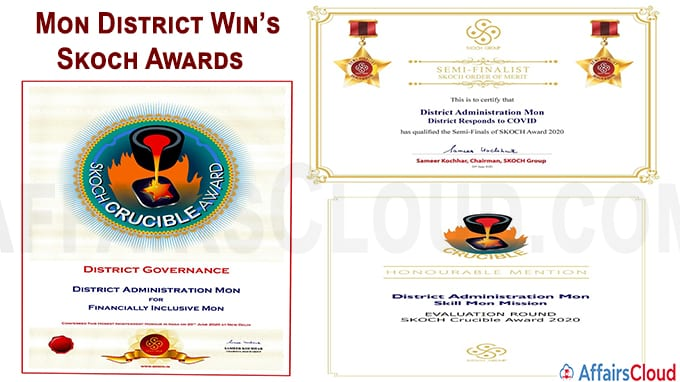 Mon District Administration conferred SKOCH Awards in Nagaland