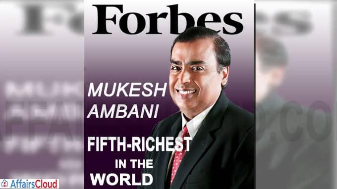 Mukesh Ambani becomes fifth-richest in the world