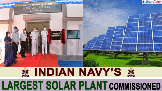 Navy's largest Solar plant commissioned