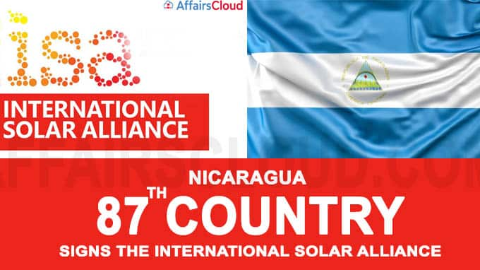 Nicaragua became the 87th country