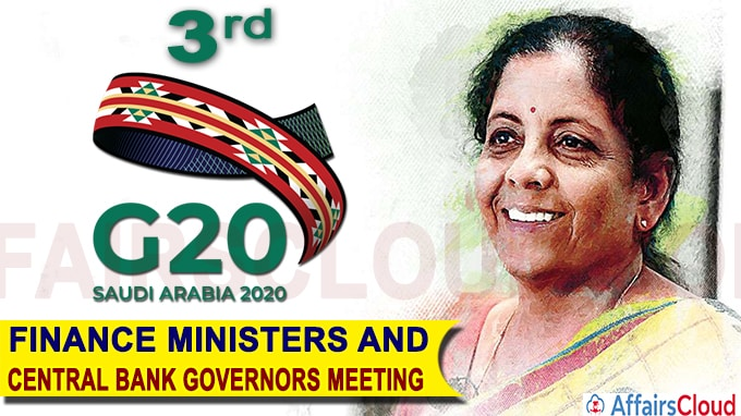 Nirmala Sitharaman attends the 3rd G20 Finance Ministers