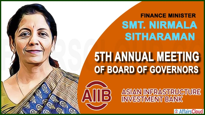 Nirmala Sitharaman attends the 5th Annual Meeting