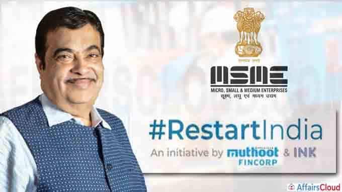 Nitin Jairam Gadkari Launches Mentoring Platform 'RestartIndia' to Support MSME Sector