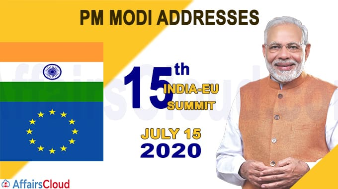 PM Modi addresses 15th India-EU Summit