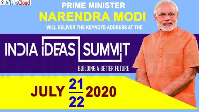 PM Modi addresses at two-day virtual India Ideas Summit 2020