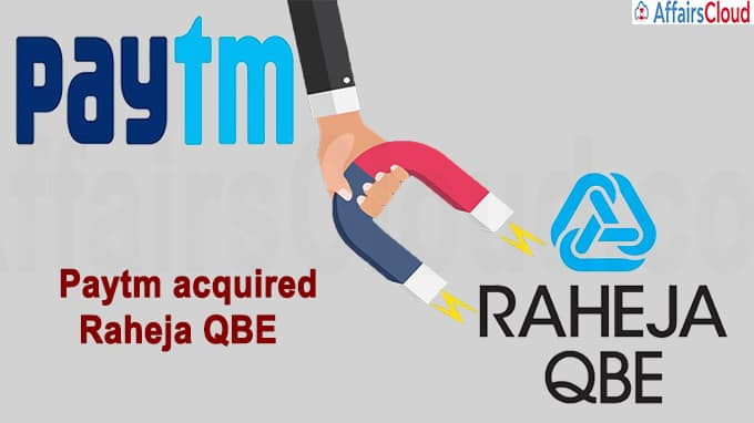 Paytm is set to acquire Raheja QBE