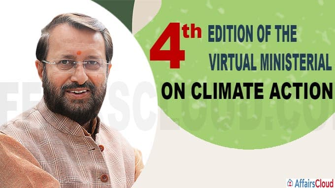 Prakash Javadekar partcipated fourth edition of the virtual Ministerial